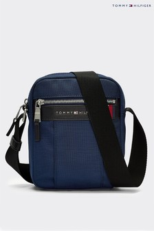 Tommy Hilfiger Blue Elevated Nylon Mini Crossover Bag