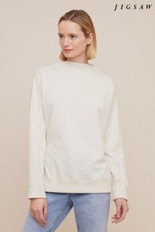 Jigsaw Cream Supersoft Fleece Sweater
