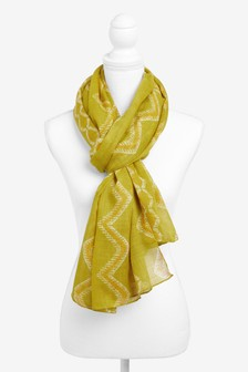 Patterned Lightweight Scarf