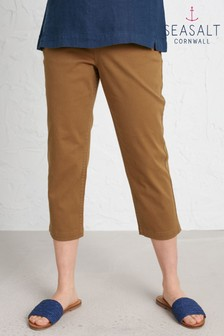 Seasalt Brown Albert Quay Crop Trousers