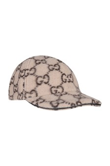 Kids Beige Wool GG Cap