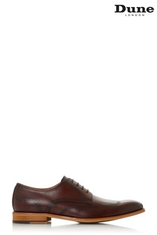 Dune London Sanctuary Bordo Leather Natural Sole Laser Wingtip Lace-Up Derby Shoes