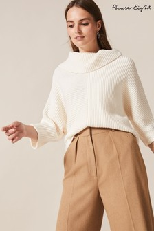 Phase Eight Cream Elodie Cowl Jumper