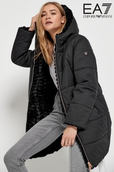 Emporio Armani EA7 Reversible Padded Fleece Coat