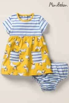 NEW RRP £26 Mini Boden  Baby Hotchpotch Jersey Dress B-U-5
