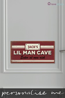 Personalised Lil Man Cave Sign by Loveabode