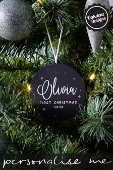 Personalised 1st Christmas Bauble by Oakdene