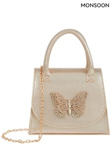 Monsoon Gold Savannah Glitter Butterfly Bag