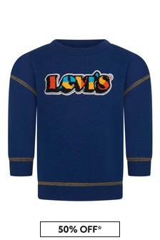 Levis Kidswear Baby Boys Blue Cotton Blend Sweater