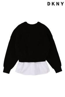 DKNY Black Logo Knit Sweater