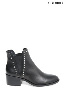 Steve Madden Black Cade Slip-On Boots
