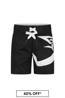 Boys Black Quick Dry Swim Shorts
