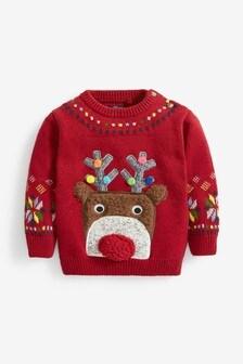 Reindeer Christmas Jumper (3mths-7yrs)