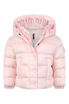 Baby Girls Light Pink Down Padded Nana Jacket