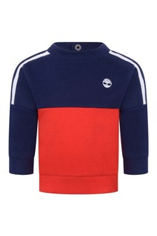 Baby Boys Blue And Red Fleece Sweater