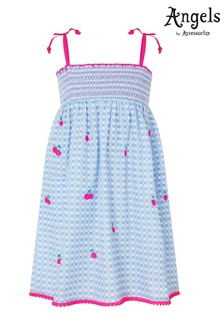 Angels by Accessorize Blue Cherry Embroidered Dress