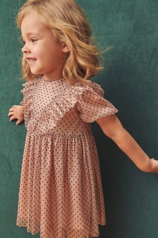 Spot Frill Dress (3mths-7yrs)