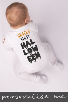 Personalised My First Halloween Sleepsuit