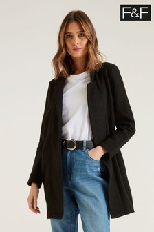 F&F Snit Black Coat