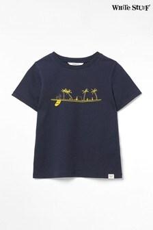 White Stuff Blue Kids Surf Paradise Jersey T-Shirt