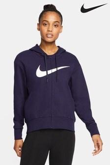 Nike Pro Dark Blue Dri-FIT Pullover Hoody
