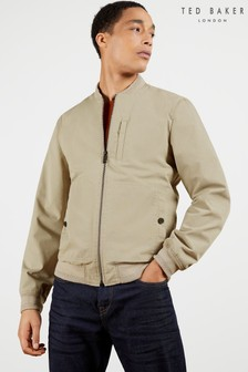 Ted Baker Bars Cotton Blend Bomber Jacket