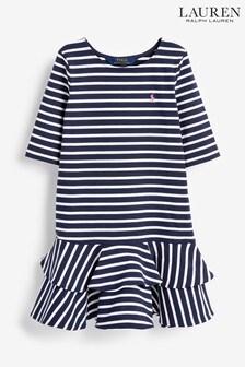 Ralph Lauren Navy Stripe Logo Dress