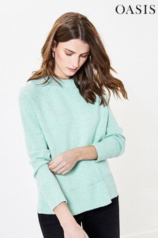 Oasis Green Rebecca Knit Jumper