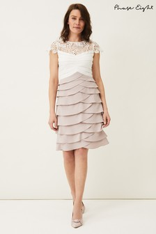 Phase Eight Cream Faith Contrast Dress