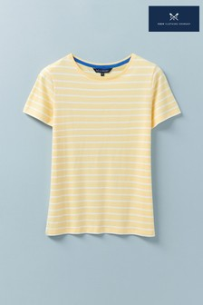 Crew Clothing Company Yellow Breton T-Shirt