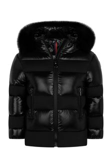Girls Black Down Padded Ginny Jacket