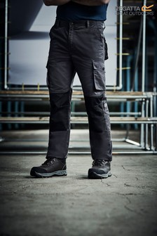 Regatta Grey Heroic Workwear Cargo Trousers