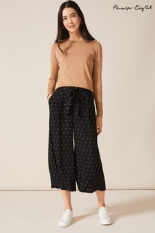 Phase Eight Black Sasha Spot Culottes