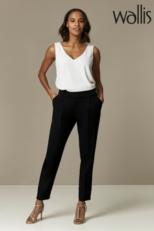 Wallis Black Pull-On Trousers
