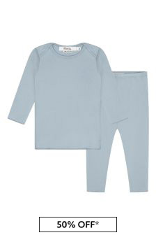 Bonpoint Baby Unisex Blue Cotton Outfit