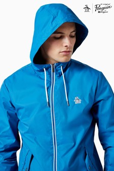 Original Penguin® Blue Full Zip Hooded Ratner Jacket