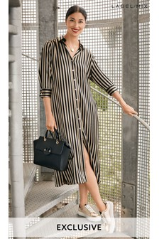 Mix/Marques Almeida Stripe Shirt Dress