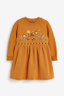 Embroidered Sweat Dress (3mths-7yrs)
