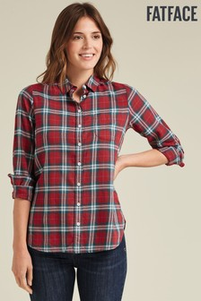 FatFace Red Olivia Check Shirt
