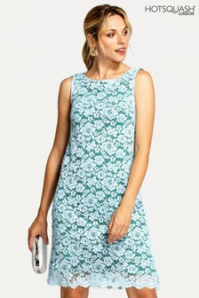 HotSquash Green Zip Back Sleeveless Shift Dress