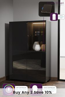 Frank Olsen Smart LED Black Display Cabinet