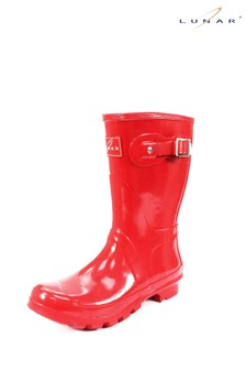 Lunar Sweden Red Ladies Wellingtons