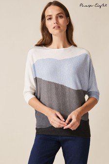 Phase Eight Blue Larisa Landscape Jumper