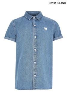 Синяя джинсовая рубашка River Island