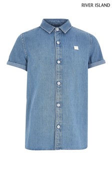 River Island Blue Denim Shirt