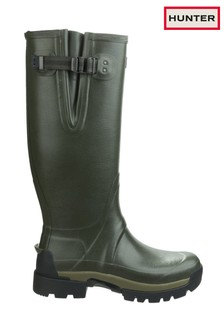 Hunter Green Balmoral Adjustable Wellington Boots