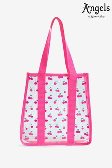 Angels by Accessorize Pink Cherry Jelly Shopper