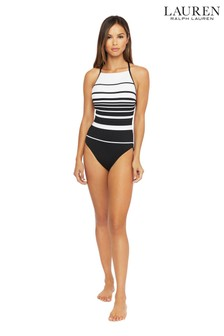 Lauren Ralph Lauren® Gradient Stripe High Neck Shaping Mio Once Piece Swimsuit