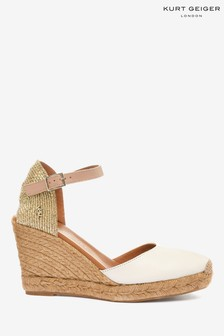 Kurt Geiger London White Leather Wedges