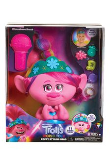 DreamWorks Trolls World Tour Poppy Styling Head